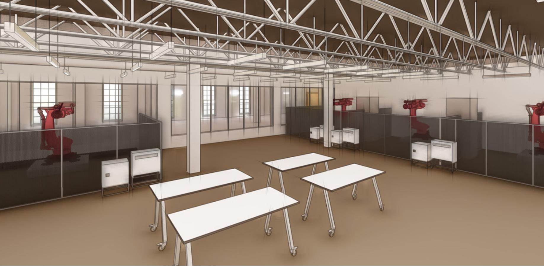 Alabama IMaDE lab computer rendering view 2