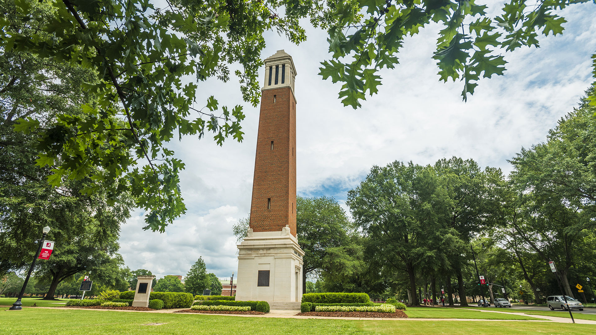 Denny Chimes on a clear summer day.