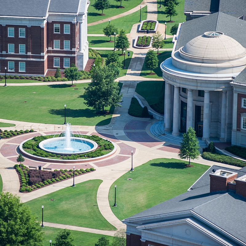 ariel view of Engineering Quad