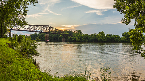 View of the Black Warrior River.