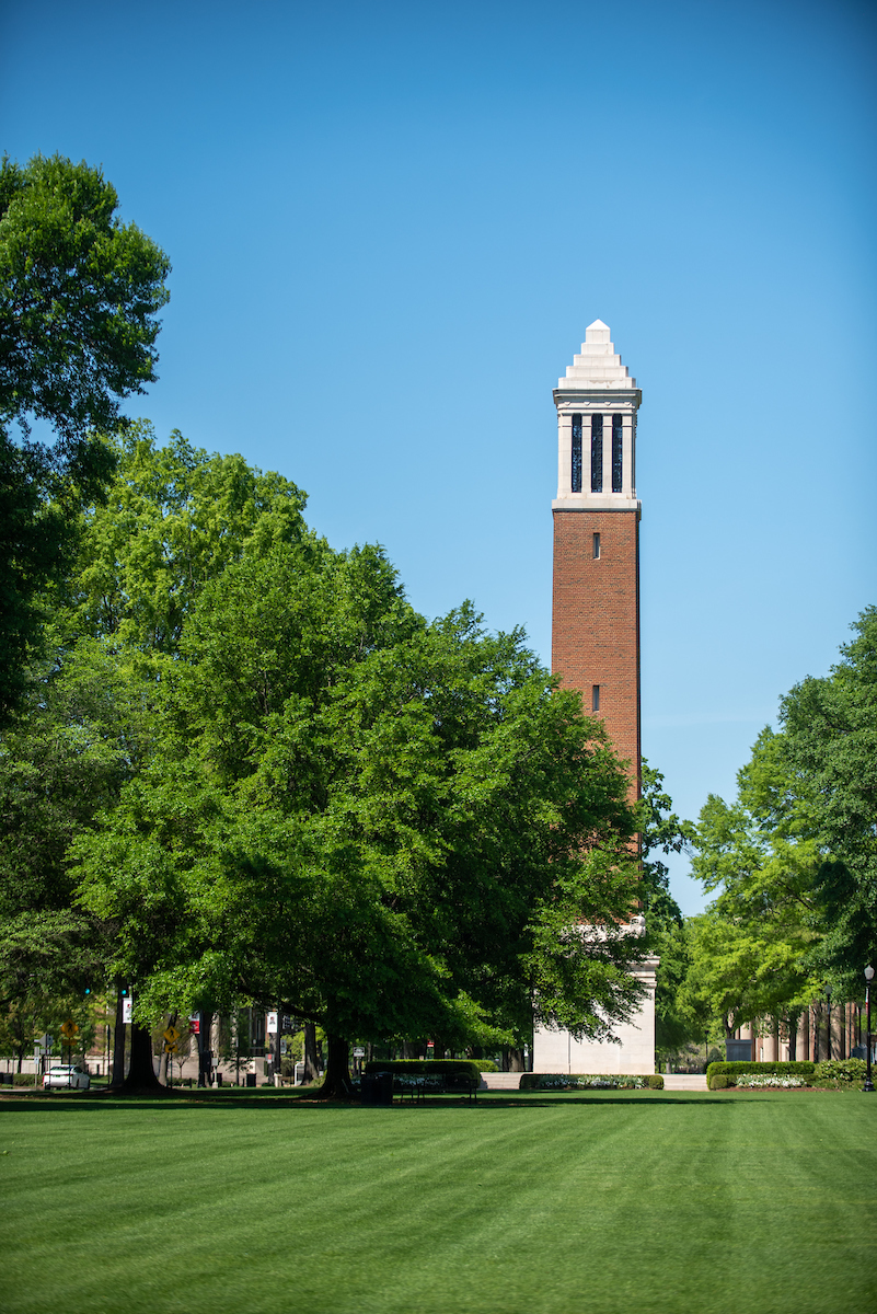 Denny Chimes on a sunny afternoon